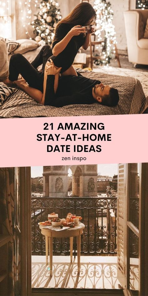 Just because you're locked in at home with you spouse doesn't mean your date nights have to be dull – on the contrary. These 21 stay-at-home date night ideas are perfect for the current situation. at home date night ideas