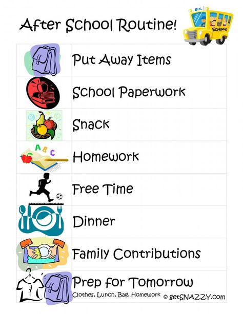 Ways To Tame The After School Chaos  School Routines Boot
