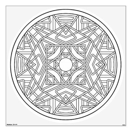 Color Your Own Coloring Book Design Abstract Wall Decal Zazzle.com  Mandala Coloring Pages, Designs Coloring Books, Coloring Books