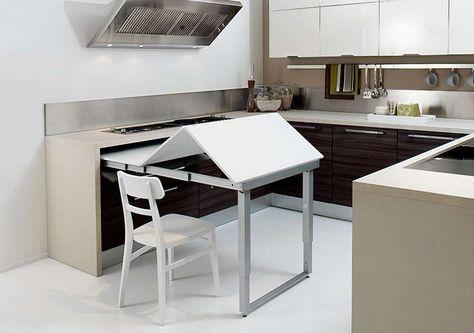 Ikea Tavolo A Scomparsa.Tavoli A Scomparsa Cucina Penisola Cucine Piccole E Tavolo