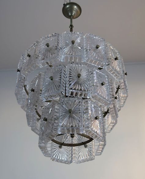 Vintage Murano glass Chandelier \/ Sconce in Vistosi italian design - designer leuchten la murrina