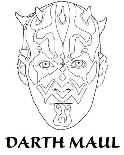 100 Star Wars Coloring Pages Darth Maul Star Wars Colors Coloring Pages