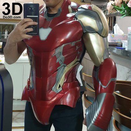 Iron Man Mark Lxxxv Mk 85 Tony Stark Avengers Endgame Helmet 3d Printable Model Print File Stl Cosplay Prop Do3d Printed 18