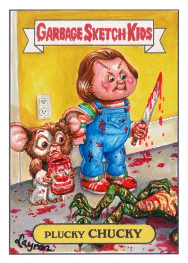 garbage pail kids   Plucky Chucky [Child's Play x Gremlins x Garbage Pail Kids]