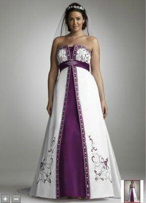 Purple And White Wedding Dresses Plus Size Wedding Dresses Plus