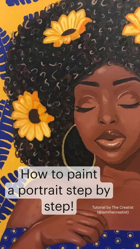 How to paint a portrait step by step! Tutorial by The Creatist (@iamthecreatist)