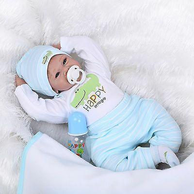 22 Realistic Reborn Body Silicone Baby Doll Lifelike Newborn Vinyl Boy Dolls Silicone Reborn Babies Baby Dolls For Kids Reborn Baby Girl