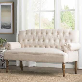 Bjorn 59 Rolled Arm Settee Furniture Love Seat Settee