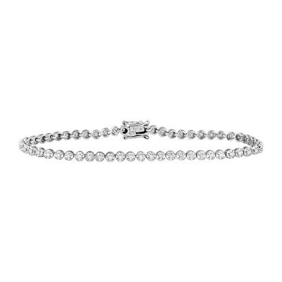 Jewelry 1 2 Ct Tw Diamond 7 Tennis Bracelet In 10k White Gold With Images April Birthstone Diamond White Diamond Stud Earrings White Gold