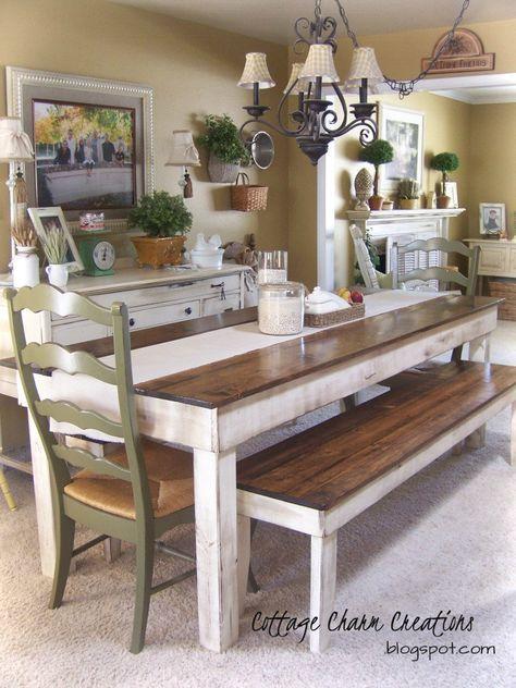 43+ Farmhouse dining bench set model