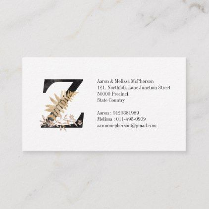 Pin On Monogrammed Business Cards