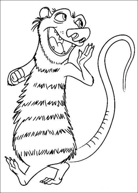How about coloring the squirrel Scrat from Ice Age movie while you ...