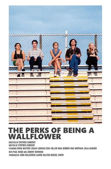 The Perks of Being a Wallflower minimal A6 movie poster