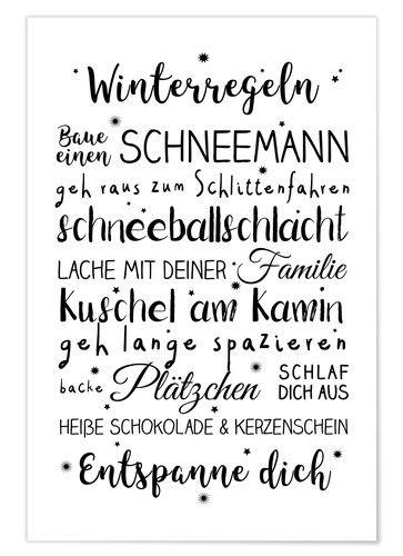 Ohkimiko Winterregeln Weihnachten Schrift Handlettering Zitate Weihnachten Spruch