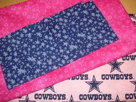 Pink Dallas Cowboys Fleece material | Wanna Be a Cowboy Baby…Quilt (Fabric & Pattern) | Kinda Crafty
