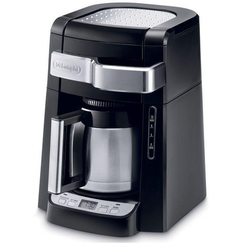 Delonghi 10 Cup Black Stainless Steel Drip Coffee Maker With Thermal Carafe Dcf2210ttc Best Drip Coffee Maker Best Coffee Maker Thermal Coffee Maker