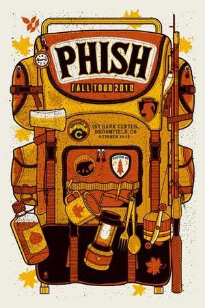Phish Colorado Print Phish Prints Broomfield Colorado 2010 Concert Poster Art Phish Poster