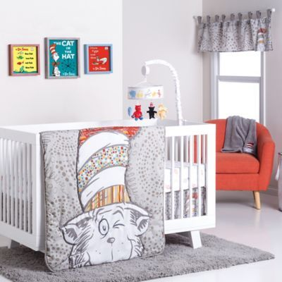 Cat In The Hat 4 Piece Crib Bedding