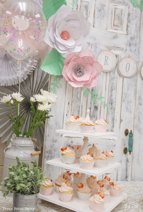 A Sweet Vintage Baby Shower By Press Print Party Baby