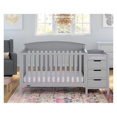 Graco Benton 4 In 1 Convertible Crib And Changer Pebble Gray Guarda Roupa