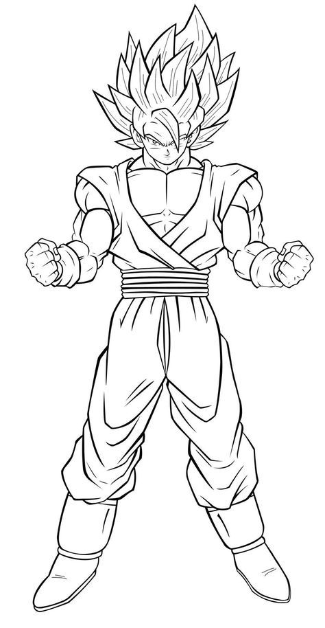 Coloriage Dragon Ball Z Sangoku Super Coloring Pages Dragon Coloring Page Dragon Ball Image