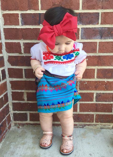 Baby Girl Fashion Amelia Carter in traditional Mexican Dress