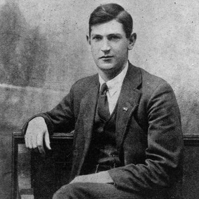 Michael Collins photographed after his return to Ireland from Frongoch Camp.