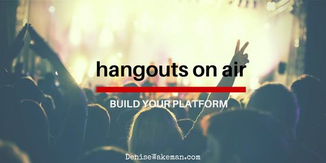 Live video helps you create intimacy faster than any other medium and accelerates engagement with your audience. And, that is how you build your platform.
