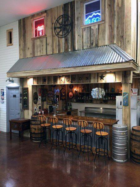 Top 50 Best Garage Bar Ideas Cool Cantina Workshop Designs Bars For Home Metal Barn Homes Barndominium Floor Plans