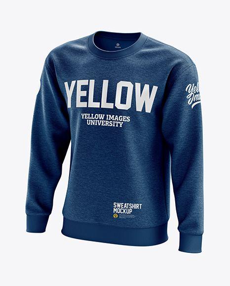 Download Men S Heather Midweight Sweatshirt Mockup Half Side View In Apparel Mockups On Yellow Images Object Mockups Sweatshirts Clothing Mockup Shirt Mockup