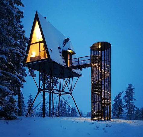 #architecture #smallhouse #tiny #house #design #contemporary #modern #cabin #norway