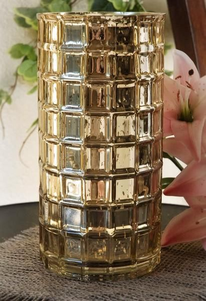 3 Pack Of Gold Mercury Vases Or Silver Mercury Vases Mercury Vases Gold Mercury Glass Mercury Glass Vase
