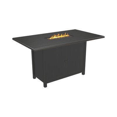 Signature Design By Ashley Perrymount Aluminum Propane Natural Gas Fire Pit Table Gas Fire Pit Table Propane Fire Pit Table Fire Pit Table