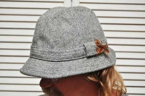 1a8557e9ac4 Vintage Mens Grey Plaid Hat Inspector Clouseau Pink by anything70s ...