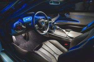 Bmw I8 Interior At Night Bmw I8 Bmw Expensive Cars