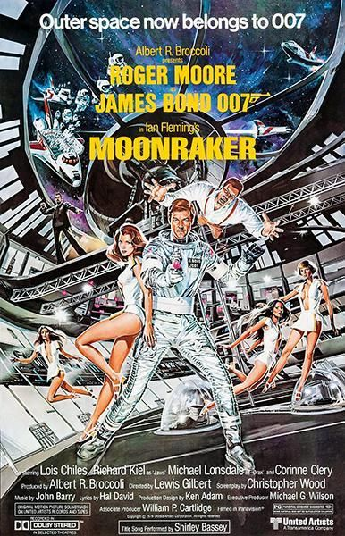 Moonraker 1979 Movie Poster Magnet James Bond Filmes E Cartaz
