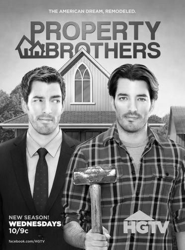 Property Brothers Poster Metal Sign Wall Art 8in X 12in Black And White Hgtv Property Brothers Property Brothers Tv Shows