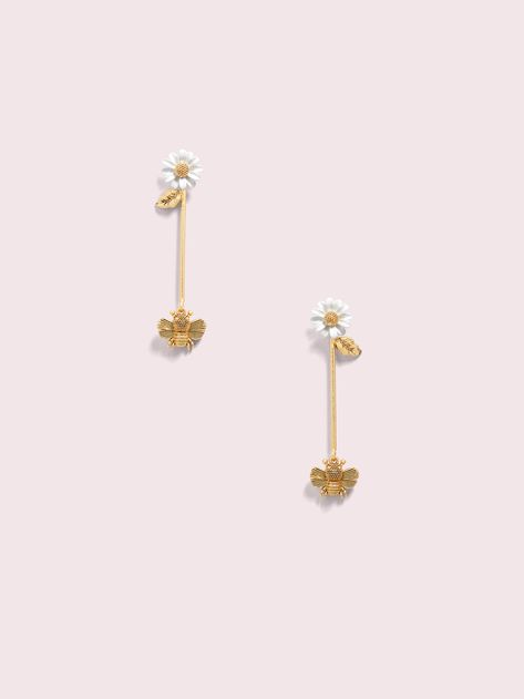 Kate Spade all abuzz bee linear earrings