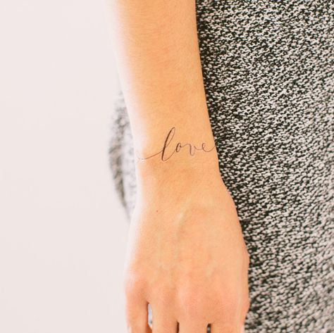 """If you're in love or you just want to remind yourself and others about how much love you have to give, wear """"Just Love"""" by Lila Symons. You'll be so glad you did. Lila Symons' beautiful Tattly is draw"""