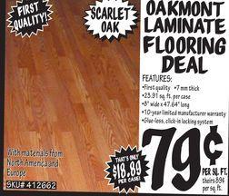 Oakmont Laminate Flooring Deal From, Oakmont Glueless Laminate Flooring