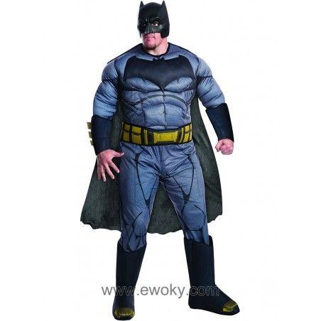 Disfraz De Batman Batman Vs Superman Deluxe Para Hombre Talla Grande 54 67 Batman Vs Superman Disfraz Batman Batman Vs