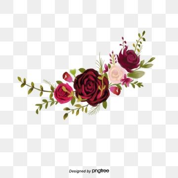 Floral Png Images Vetores E Arquivos Psd Download Gratis Em Pngtree In 2020 Free Watercolor Flowers Burgundy Flowers Watercolor Flower Wreath
