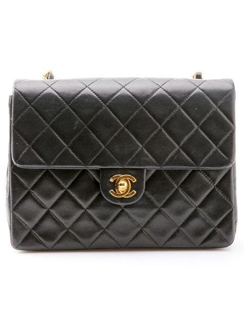 567ca91eea1 Chanel Vintage Mini Half Flap Bag - What Goes Around Comes Around - Farfetch .com