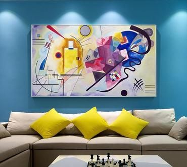 Kandinsky Abstract Famous Canvas Painting Abstract Canvas Painting Canvas Wall Art Wall Art Pictures Best artwork for living room
