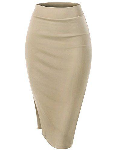 836c317b9 LHWY Falda LáPiz De Tubo Stretch Recta De Vestir Mujer Faldas De ...