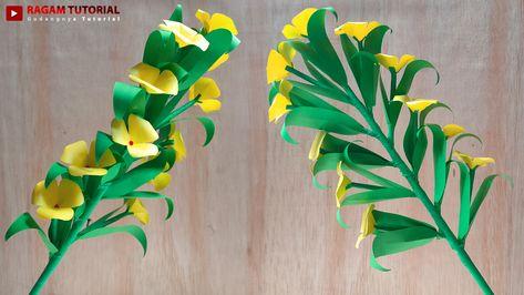 Ide Kreatif Membuat Bunga Lucu Kecil Mungil Dari Kertas Origami Origami Flower Paper Craft Origami Bunga Kertas Kreatif