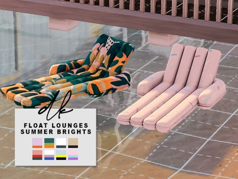 Roli Cannoli CC Findz Corner — dk-sims:   Float Loungers Note: Requires Island... Los Sims 4 Mods, Sims 4 Game Mods, Lotes The Sims 4, Sims 4 Mm Cc, Sims 4 Cc Furniture, Furniture Legs, Barbie Furniture, Garden Furniture, Furniture Design
