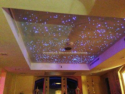 LED Sternenhimmel 200 Lichtfaser Sauna Bad Wellness Schlafzimmer - sternenhimmel f r schlafzimmer
