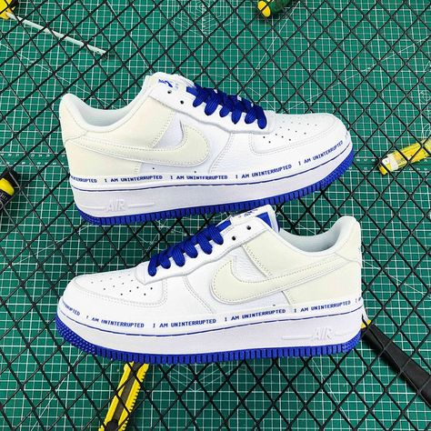 Uninterrupted x Nike Air Force 1 Low MTAA WhiteGame Royal