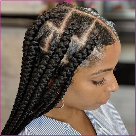 Big Box Braids Hairstyles, Braids Hairstyles Pictures, Braided Hairstyles For Black Women, Baddie Hairstyles, African Braids Hairstyles, Hair Pictures, Girl Hairstyles, Black Bob Hairstyles, Black Men Haircuts